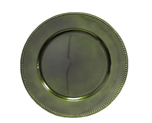 BEADED AVOCADO Charger Plate / Underplates 33cm